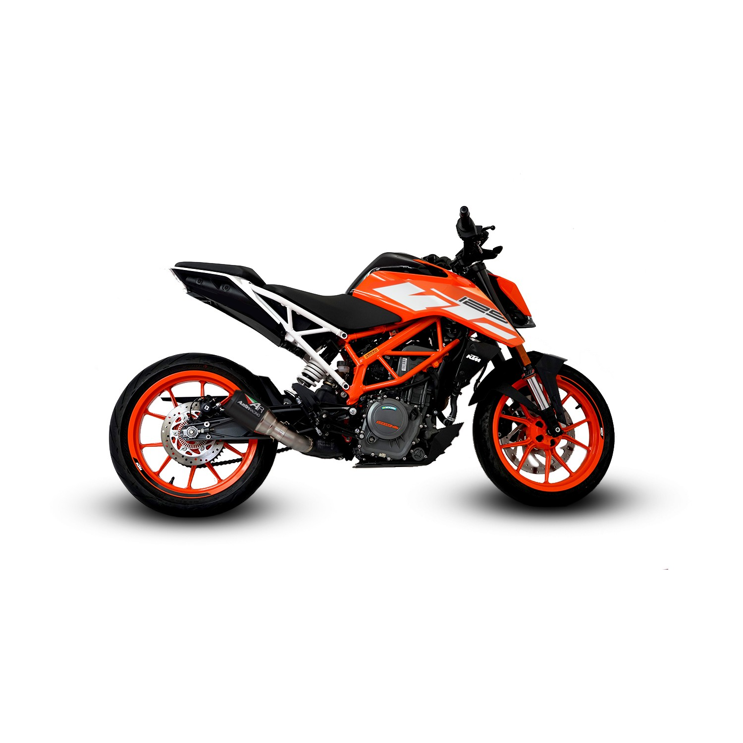 Ktm Duke 125 Rc125 2017 2018 Slip On Exhaust Systems