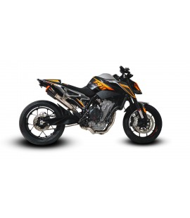 KTM DUKE 790 RS22 UNDERSEAT DE-CAT EXHAUST SYSTEMS