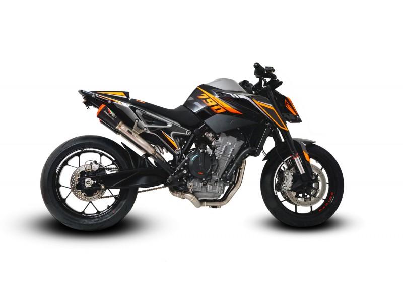 KTM DUKE 790 RS22 UNDERSEAT DE-CAT EXHAUST SYSTEMS